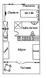 plan du bungalow